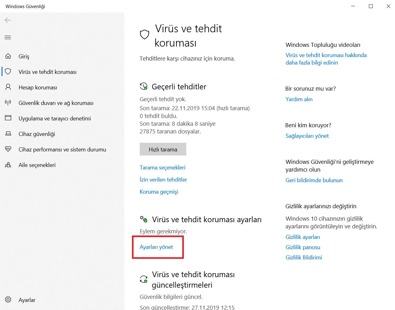 windows-virus-ayarlari