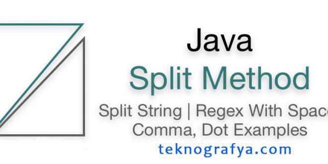 Java Split Kullanımı